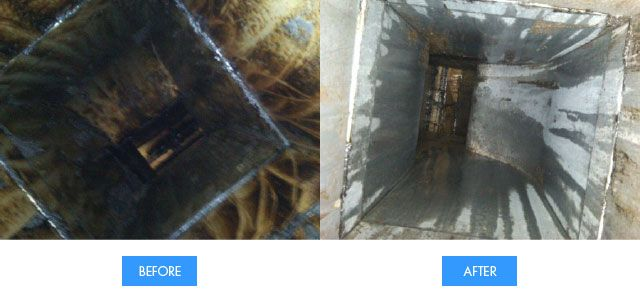vent before and after